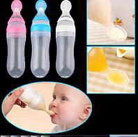 Детская ложка-бутылка для кормления малыша