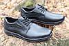 Туфли мужские из натуральной кожи черного цвета шнуровке Б 360, фото 6