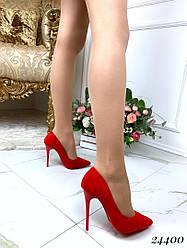 Туфли-лодочки элегантные, эко-замш + (2 цвета)