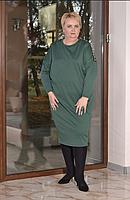 Удлиненное платье женское свободного фасона, с 48-82, фото 1