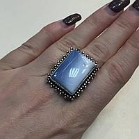 Кольцо опал редкий голубой опал Овайхи (Owyhee) размер 19,3 кольцо с опалом в серебре Индия