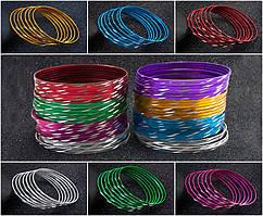 """(50шт,7цветов) Тонкие браслеты """"Неделька"""" Ø7см (ширина одного браслета 2мм) Цвет - Микс"""