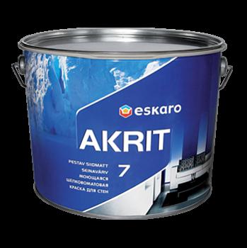 Моющаяся шелково-матовая краска для стен Eskaro Akrit 7  9,5 л
