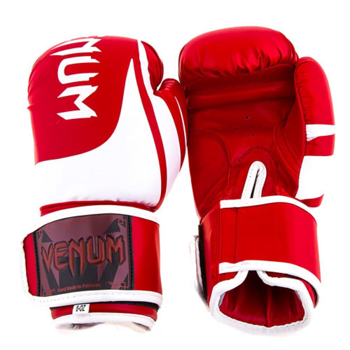Детские боксерские перчатки VENUM VM2145 (реплика, красный) размер 8 унц.