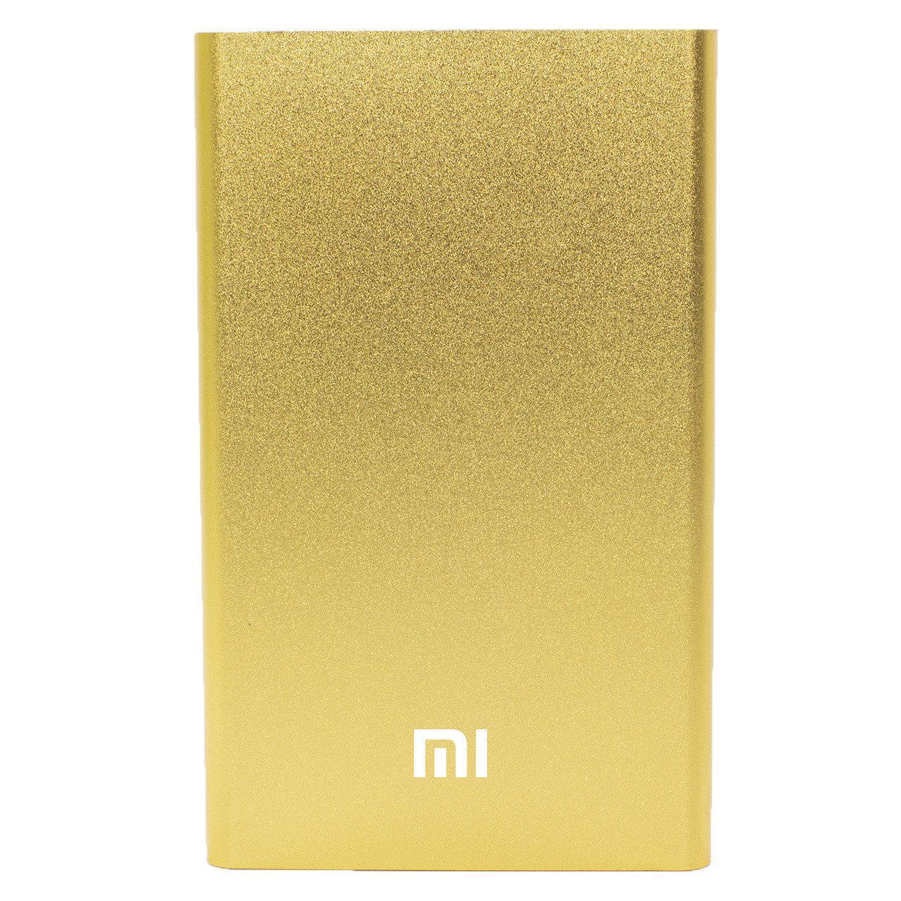 Повер банк Xiaomi 10400 mAh Gold тонкий компактный портативный для зарядки гаджетов цифровой техники (Реплика)