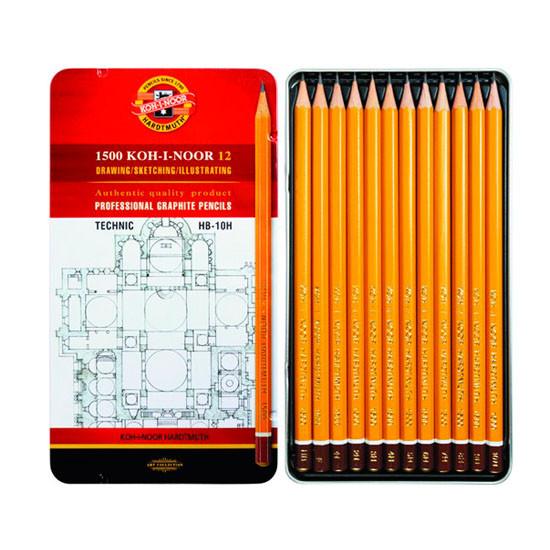 Набор графитных карандашей Koh-i-noor Technic 12 штук 1502-1 HB-10H