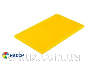Доска разделочная желтая 450х300х13 мм Stalgast 341453