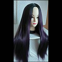 Парик фиолетовый омбре длинные волосы