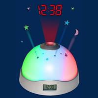 Настольные  часы ночник с проектором Star Master, фото 1