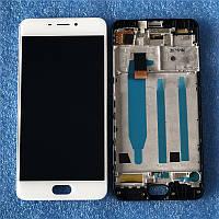 Дисплей (LCD) Meizu M6 | M711 з тачскріном і рамкою, білий
