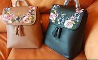 Женский рюкзак David Jones черный с вышивкой