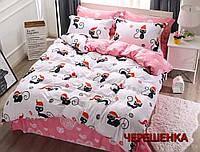 """Двуспальный набор постельного белья 180*220 из Бязи """"Gold"""" №157531AB Черешенка™"""