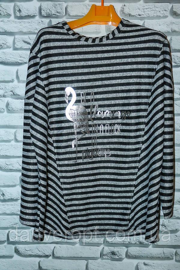 Туника женская стильная полоска размер универсальный 50-60 купить оптом со склада 7км Одесса