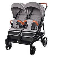 Детская прогулочная коляска для двойни Carrello Connect CRL-5502 Rock Gray