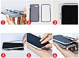 Магнитный металл чехол Metal Frame для Xiaomi Redmi Note 8 / Cтекла на дисплей и камеру /, фото 10