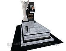 Пам'ятник гранітний елітний на могилу  з скульптурою Ангела S300