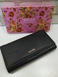 Женский кошелек BALISA из натуральной кожи (Черный матовый)
