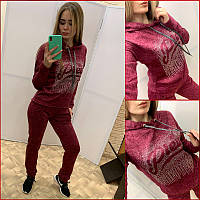 Спортивный прогулочный костюм ~Angora Plein~ бордо, фото 1
