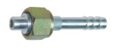 Фитинг алюминиевый №6 (8мм) прямой 0° с накидной гайкой. O‐ring (кольцо)