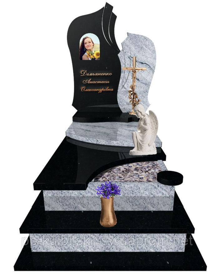 Пам'ятник надгробний Елітний Одинарний S304