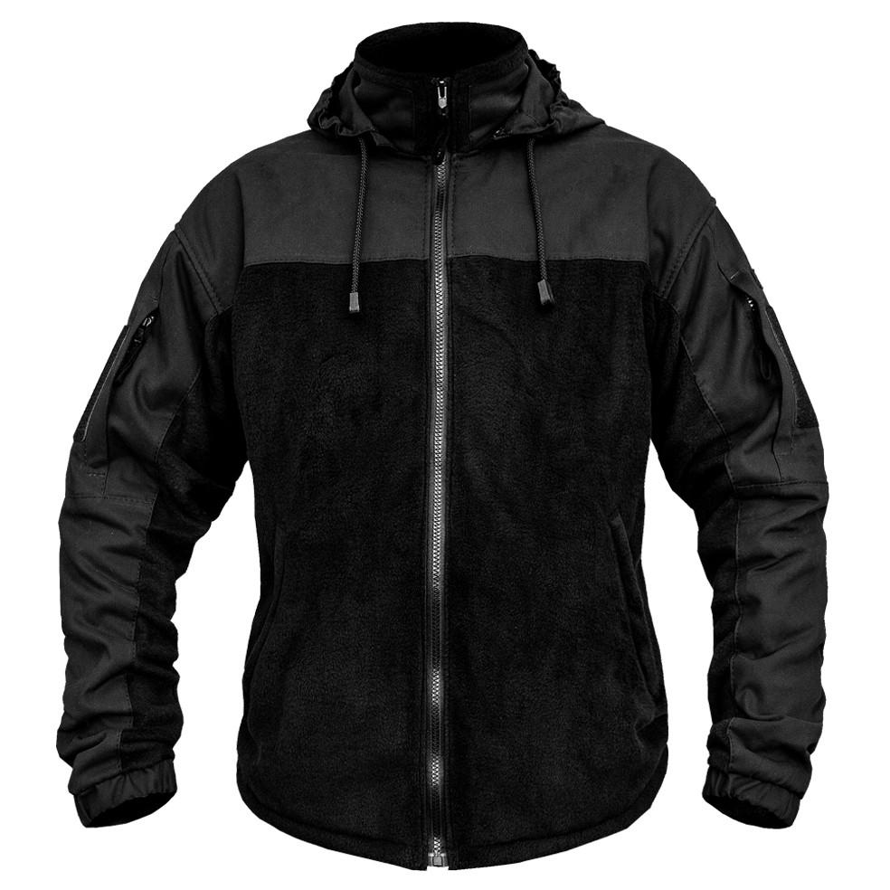 Толстовка флисовая с капюшоном (ANTITERROR) Black