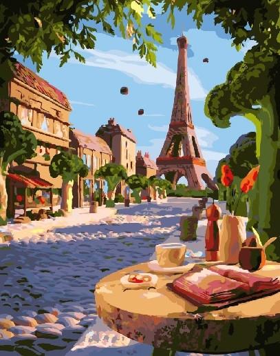 Картина по номерам BRUSHME Летний Париж