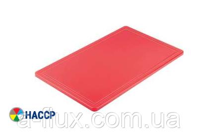 Доска разделочная красная 600х400х18 мм Stalgast 341631