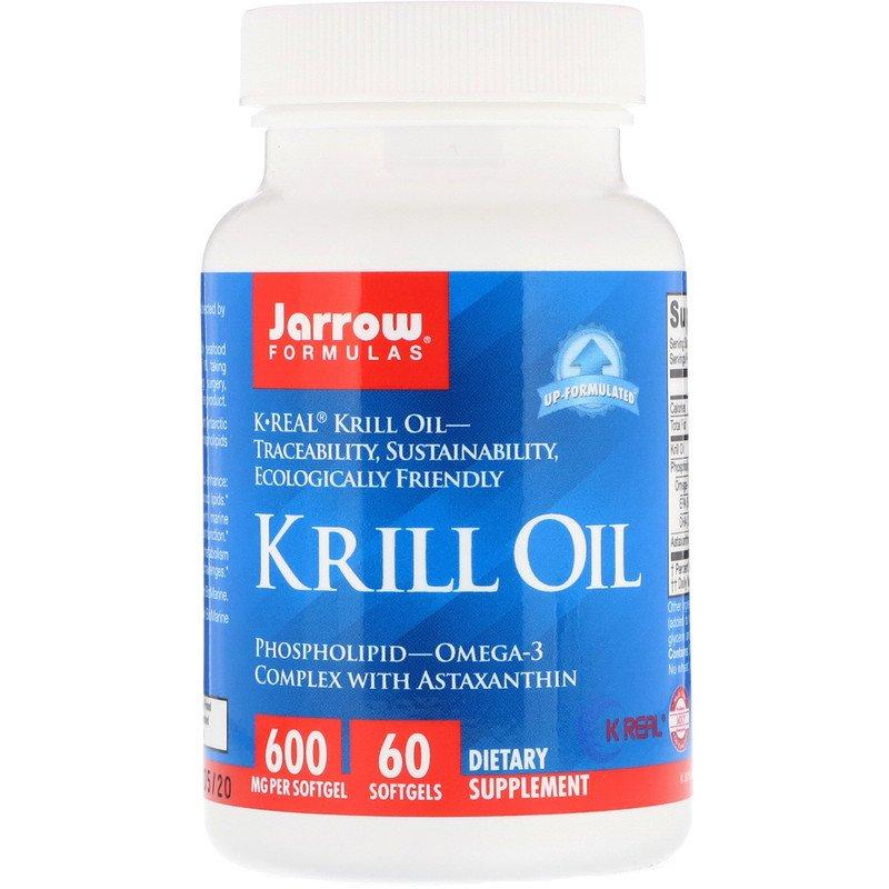 """Масло криля Jarrow Formulas """"Krill Oil"""" оmega-3 комплекс с астаксантином (60 гелевых капсул)"""
