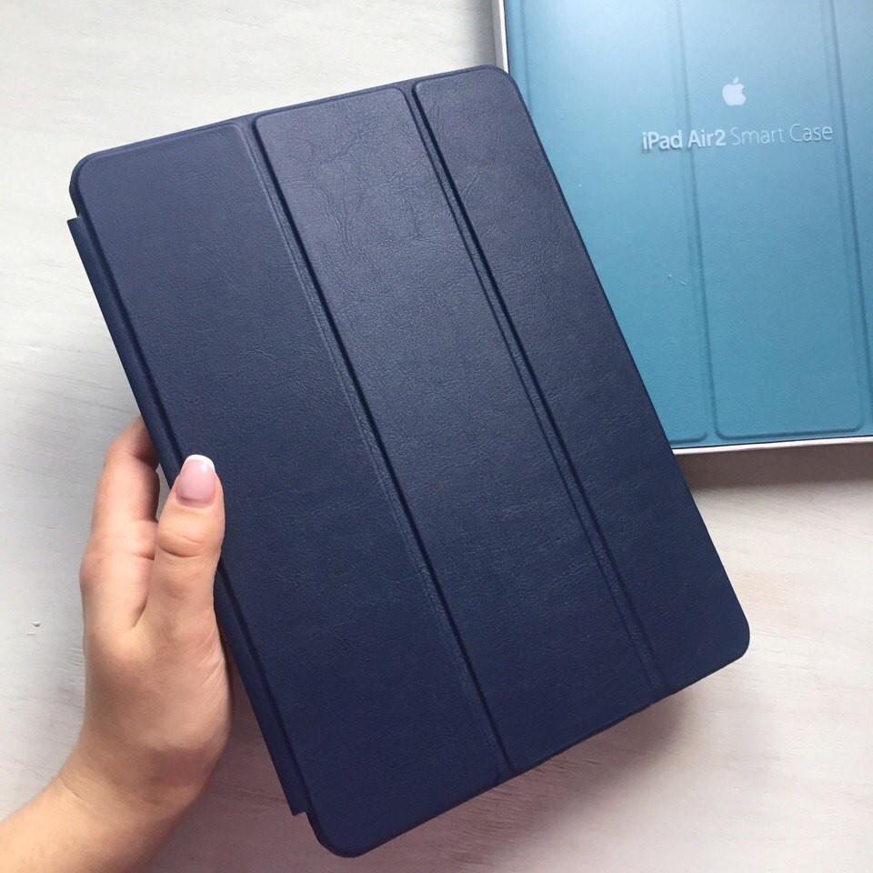 Кожаный темно синий чехол Smart Case для iPad Air 2