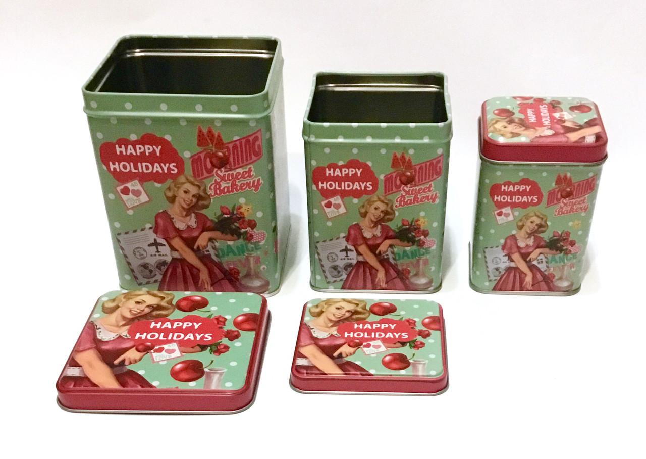 Набор металлических подарочных коробочек