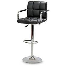 Барный стул Hoker ASTANA с подставкой для ног и регулировкой высоты сидения Черный