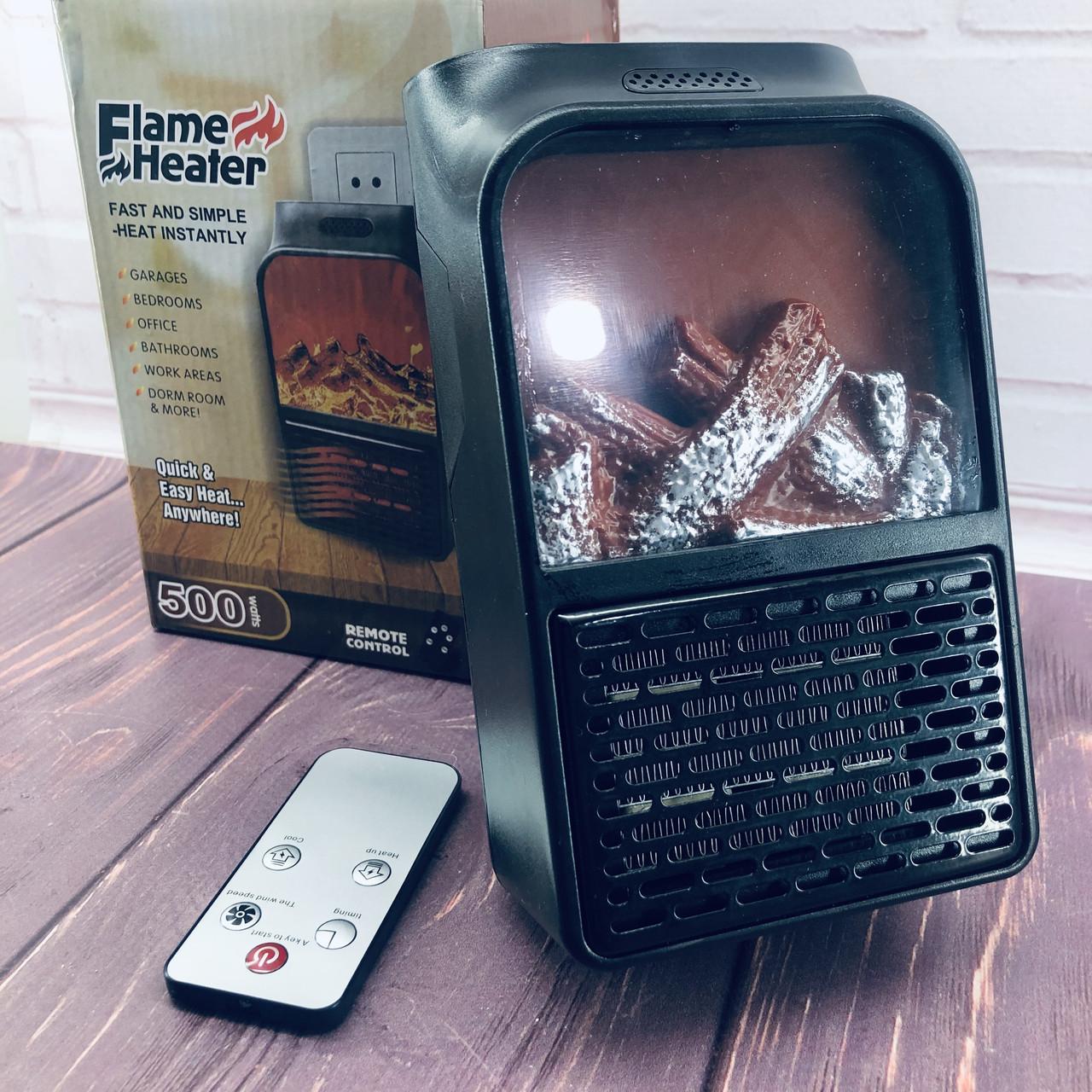 Камин обогреватель Flame Heater с пультом 500 Вт