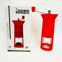 Кофемолка Bialetti Macinacaffe ручная жерновая шкала для Мока на 1-3-6 ч.+регулировка степени помола
