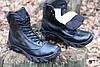 Тактические ботинки из натуральной кожи и меха - черный ботинок енерджи, фото 8