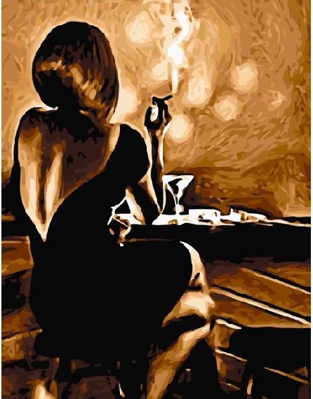 Картина по номерам BRUSHME Девушка в баре