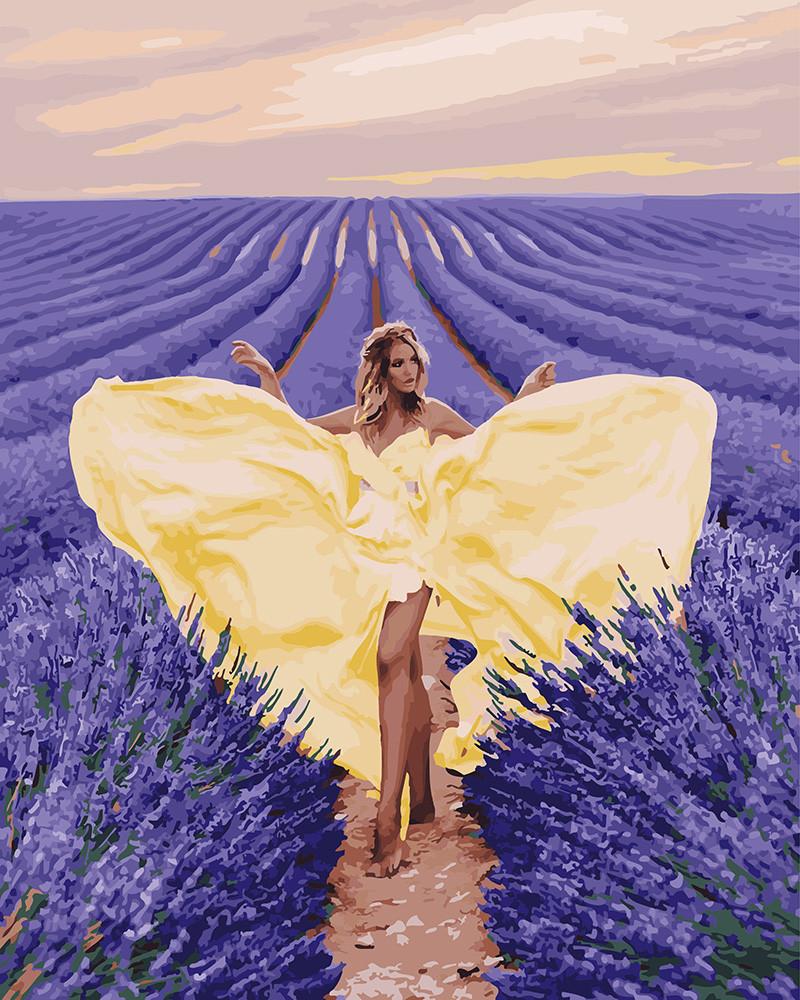 Картина по номерам BRUSHME Очарование в лавановом поле