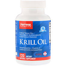 "Масло кріля Jarrow Formulas ""Krill Oil"" омеда-3 комплекс з астаксантином (120 гельових капсул)"