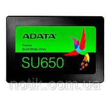 """Твердотельный накопитель 120Gb, A-Data Ultimate SU650, SATA3, 2.5"""", 3D NAND TLC, 520/450 MB/s (ASU650SS-120GT-R)"""