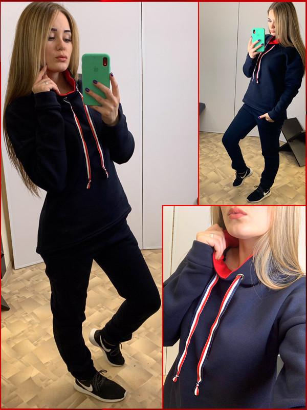 Спортивный костюм на флисе *Prime* синий, фото 1