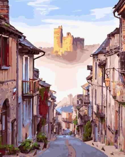 Картина по номерам BRUSHME Улочка старого города