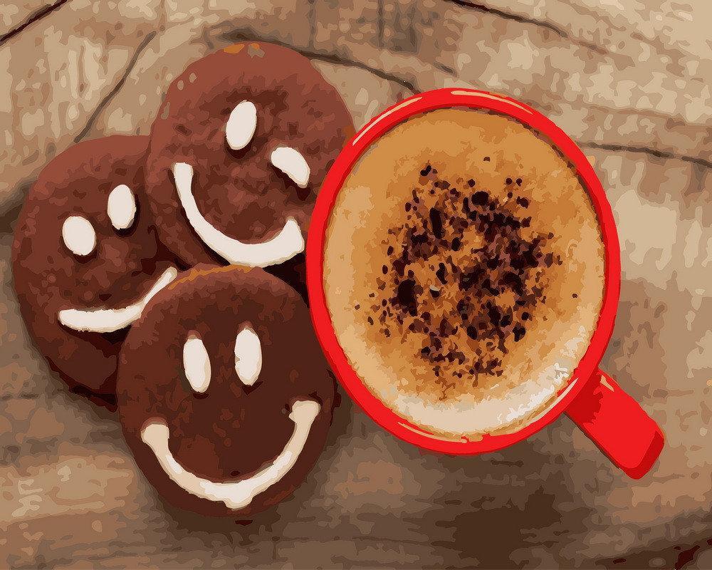 Картина по номерам BRUSHME Кофе с печеньем