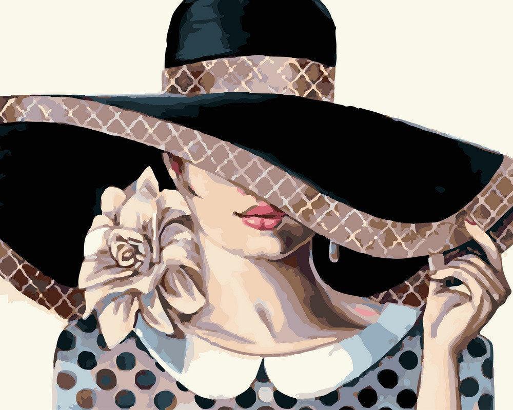Картина по номерам BRUSHME Загадочная леди