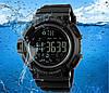 SKMEI 1245 черные спортивные мужские часы, фото 6