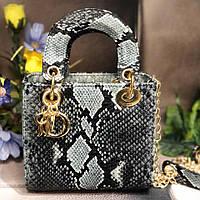 Женская сумка в стиле Dіоr Lady (Диор Леди), змеиный принт ( код: KB994,6 )