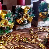 Подсвечник новогодний ручной работы, новогодний декор, набор 3 штуки