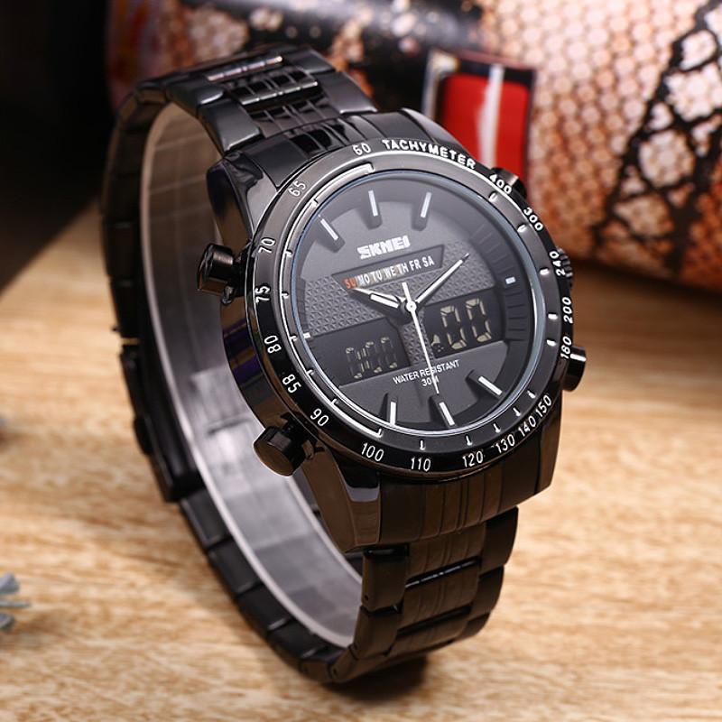 Cпортивные мужские часы Skmei ARMY 1131 Черные с Белым кантом