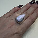 Кольцо капля опал Перу размер 17,5 кольцо с розовым опалом в серебре Индия, фото 4