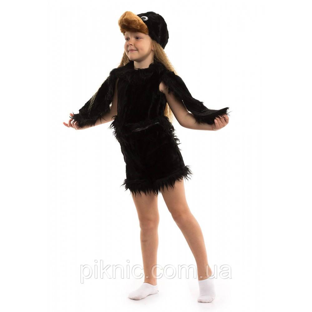 Костюм Ворона 3-6 лет Детский новогодний карнавальный костюм для детей 342