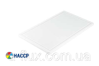 Доска разделочная белая 440х290х20 мм Stalgast 340440