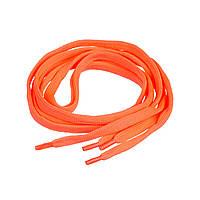 Шнурки для обуви кислотно-оранжевые плоские Rolli 120см 1 пара